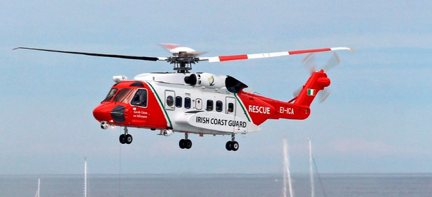 Irish Coast Guard Rescue Helicopter. Photo: Irish Coast Guard