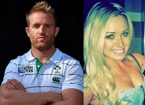 Luke Fitzgerald with girlfriend Sadbh McMahon