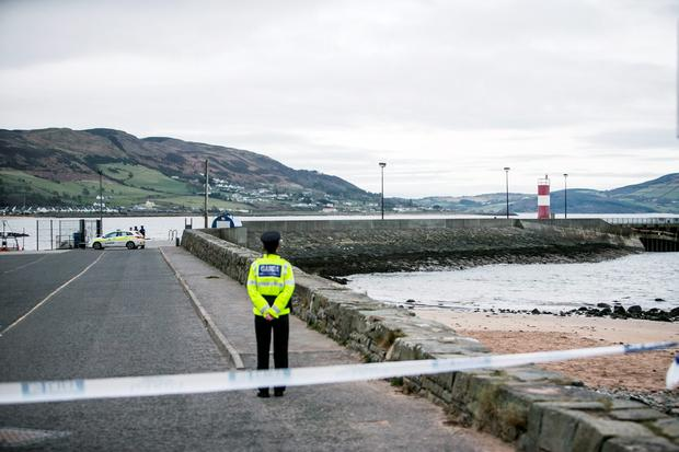 The scene at Buncrana this morning