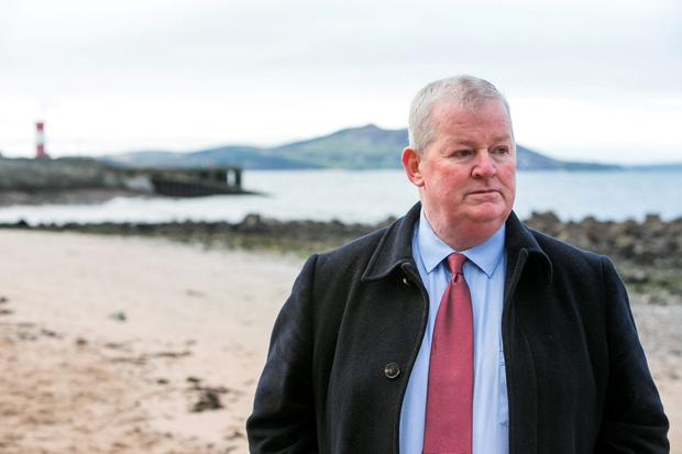 Francis Crawford at the scene of the tragedy in Buncrana