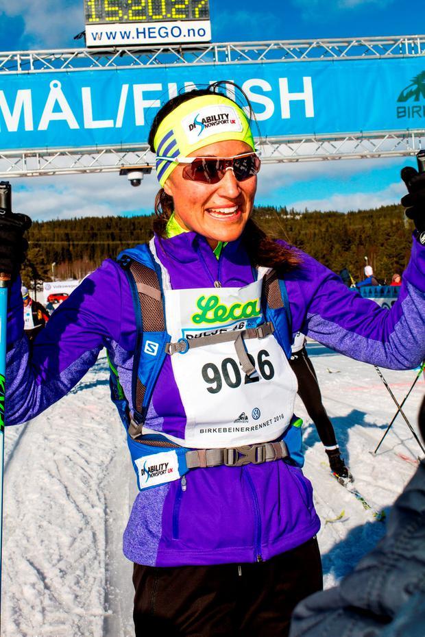 Pippa Middleton successfully completed the 54KM / 33 mile course from Rena to Lillehammer in 5 hours 58 minutes to raise awareness for The UK's National Skier's and Boarder's Charity Disability Snowsport UK.