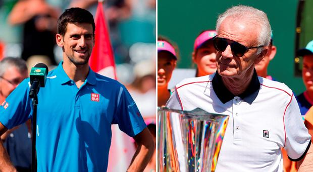 Novak Djokovic and Raymond Moore