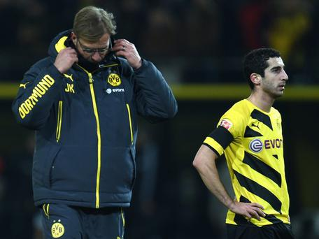 Jurgen Klopp and Henrikh Mkhitaryan during their time at Borussia Dortmund. Getty Images