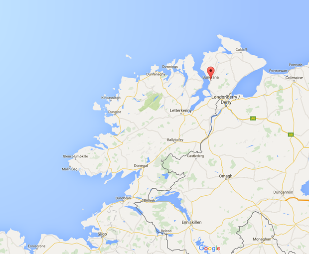 Buncrana, Co Donegal. Photo: Google maps