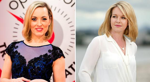Kathryn Thomas and Claire Byrne