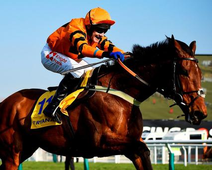 Trainer Colin Tizzard says Thistlecrack may go on to the Aintree and Punchestown festivals before the season ends. Photo: Dylan Martinez/Reuters