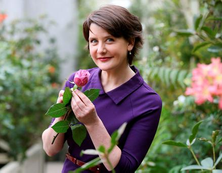 RTÉ presenter and Cystic Fibrosis Ireland ambassador Keelin Shanley by Cystic Fibrosis Ireland of Cystic Fibrosis National Awareness Week (April 11-17) and 65 Roses Day. 65 Roses Day takes place on April 15 and sees volunteers selling purple roses nationwide to raise €65,000 for services for people with cystic fibrosis. Pic. Robbie Reynolds