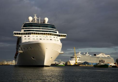 The Celebrity Silhouette pictured arriving into Dublin. Photo: Johnny Bambury/ Fennell Photography