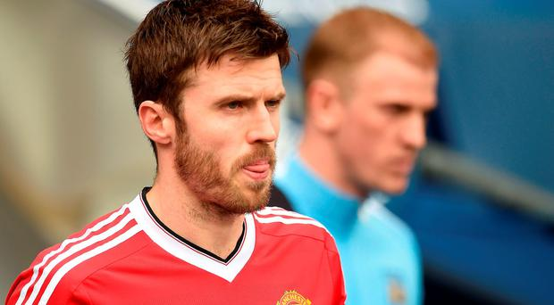 Carrick captained United at the Etihad Stadium and produced an impressive performance to help keep alive their hopes of qualifying for the Champions League. Photo: Getty