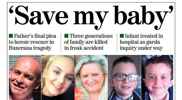 The Irish Independent front page