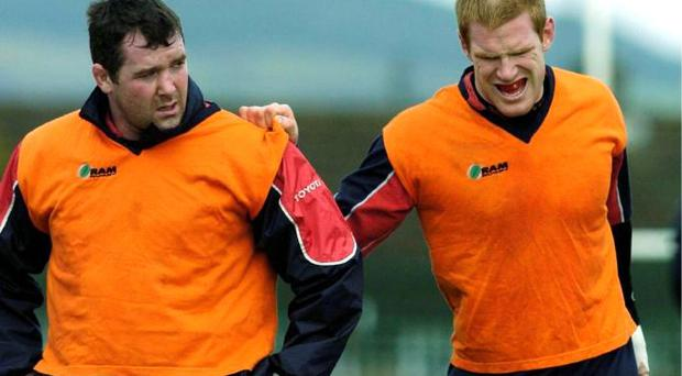 Anthony Foley and Paul O'Connell during their playing days together