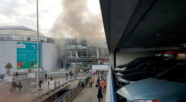 The scene this morning at Brussels Airport