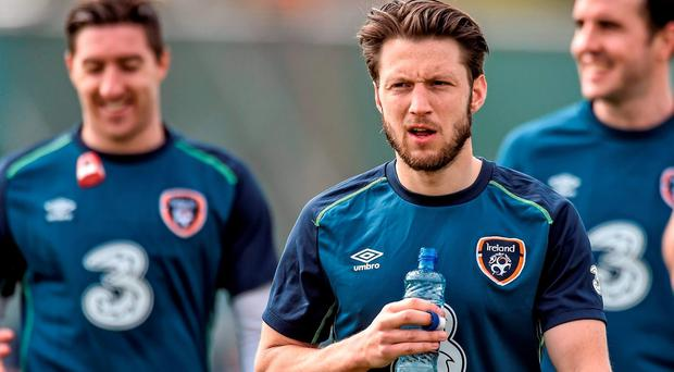 Republic of Ireland's Harry Arter during squad training.