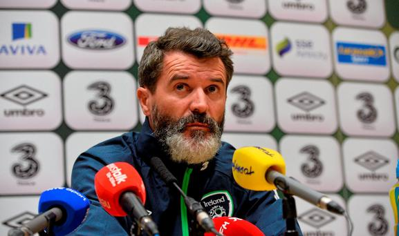 Republic of Ireland assistant manager Roy Keane. National Sports Campus, Abbotstown, Dublin. Picture credit: David Maher / SPORTSFILE