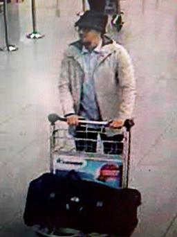 CCTV image issued by Belgian Federal Police of a man they want to trace in connection with the explosions at Brussels airport. Photo: Belgian Federal Police/PA Wire