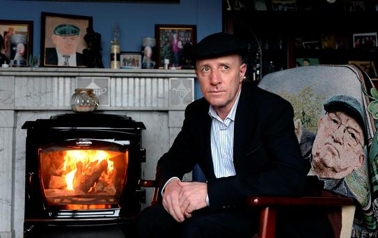 Kerry TD Michael Healy-Rae pictured recouperating at home in Kilgarvan. Photo: Don MacMonagle