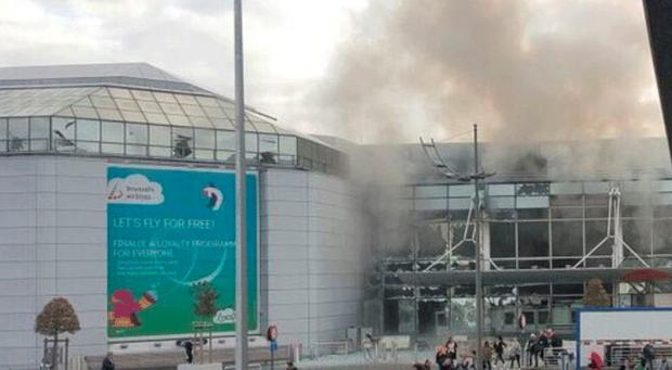 The scene at Brussels Airport on Tuesday morning