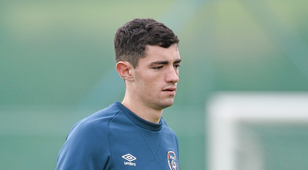 8 October 2014; Republic of Ireland's Brian Lenihan in action during squad training ahead of their UEFA EURO 2016 Championship Qualifer, Group D, game against Gibraltar on Saturday. Republic of Ireland Squad Training, Gannon Park, Malahide, Co. Dublin. Picture credit: David Maher / SPORTSFILE