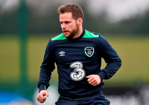 Republic of Ireland's Alan Judge during squad training at the National Sports Campus in Abbotstown. Photo: David Maher/Sportsfile