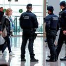'Mossos D'Esquadra' patrol at Barcelona El Prat airport following attacks in Belgian capital. 'If security is not intrusive, people are indeed reassured. This is an opportunity for the security industry to win back the goodwill it forfeited so carelessly and aggressively in the aftermath of 9/11'. Getty Images