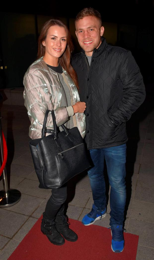 Ian Madigan and girlfriend Anna Kirwan at the launch of Darragh Fanning's Zambrero Mexican restaurant on Hatch Street
