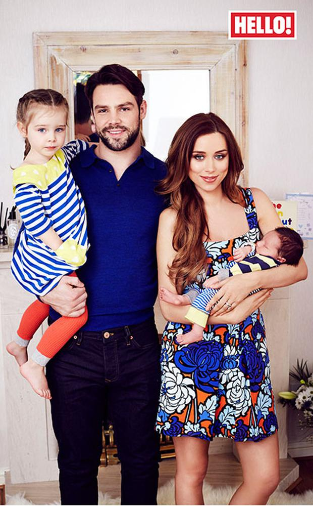 Ben and Una Foden with their children Tadhg and Aoife. Picture: Hello Magazine