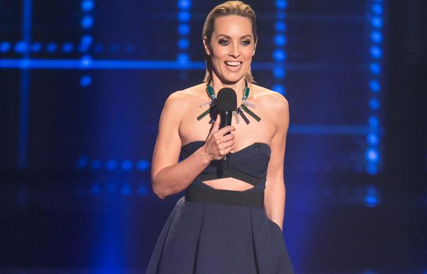 Kathryn Thomas in the Self Portrait dress on The Voice of Ireland. Picture: Kyran O'Brien