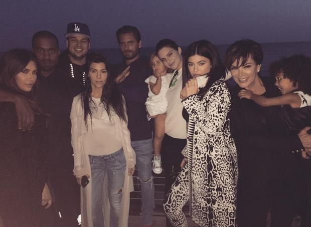 The Kardashian/Jenner clan reunited for Rob's birthday in March
