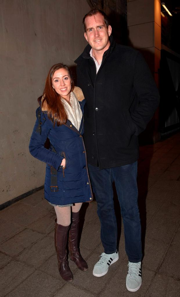 Mary Scott and Devin Toner at the launch of Darragh Fanning's Zambrero Mexican restaurant on Hatch Street