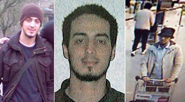 Najim Laachraoui - but the 'man in white' (right) is now a mystery