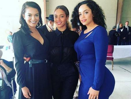 Beyonce with cousin Kristin Douglas (right) and a friend.