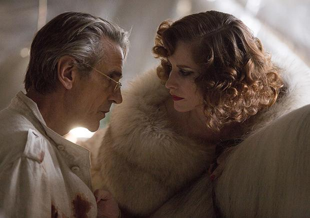 Jeremy Irons and Keeley Hawes in High Rise.