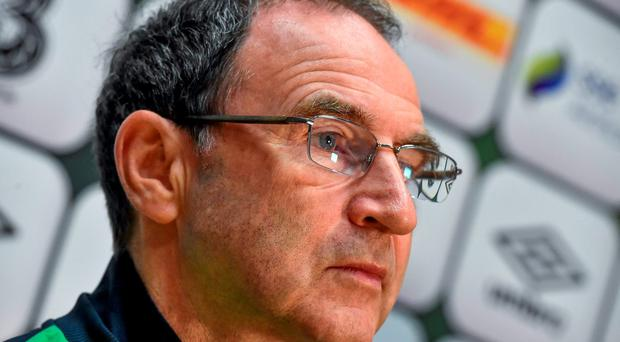 Republic of Ireland manager Martin O'Neill during a press conference. National Sports Campus, Abbotstown, Dublin. Picture credit: David Maher / SPORTSFILE