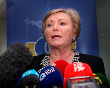 Justice Minister Frances Fitzgerald – the Isil suspect wants her to allow him to apply for asylum. Photo: Tom Burke
