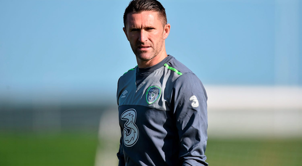 Republic of Ireland's Robbie Keane during squad training. Photo: Sportsfile