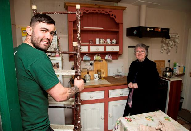 May King pictured with her Building Contractor, James Ormond at her South Dublin home