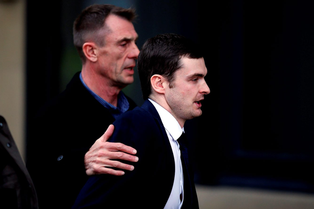 Former England footballer Adam Johnson arrives at Bradford Crown CourtPhoto:Nigel Roddis/Getty Images