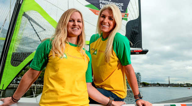 Andrea Brewster, left, and Saskia Tidey (SPORTSFILE