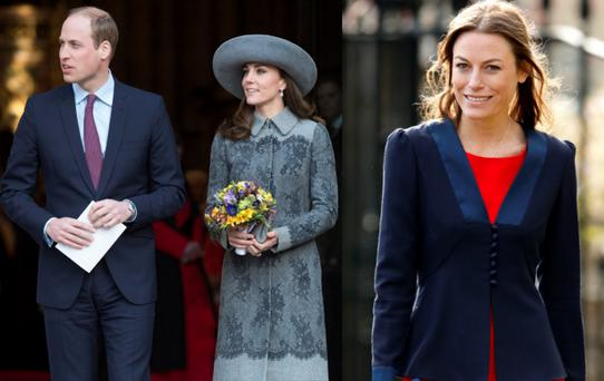 Kate Middleton and Prince William (left) and Jecca Craig (right)