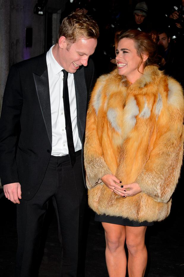 (L-R) Laurence Fox and Billie Piper attend the Evening Standard Theatre Awards at The Savoy Hotel on November 17, 2013 in London, England. (Photo by Ben A. Pruchnie/Getty Images)