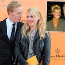 Billie Piper and Laurence Fox (left) and with ex-husband Chris Evans in 2004