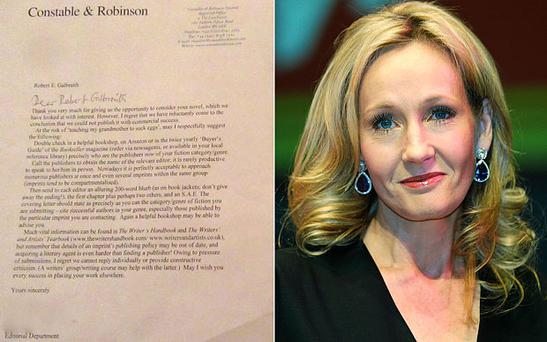 JK Rowling shared a rejection letter which turned down Harry Potter