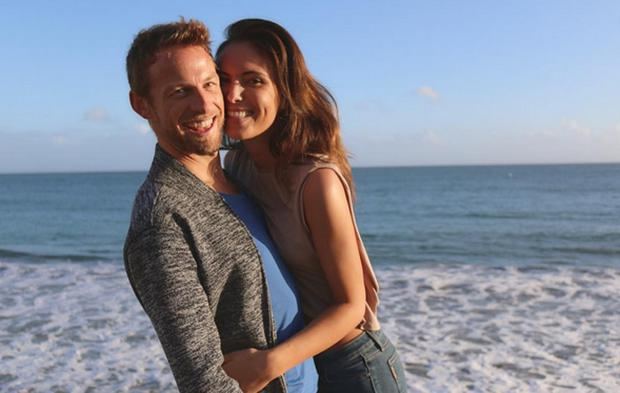 Jenson Button and Brittney Ward