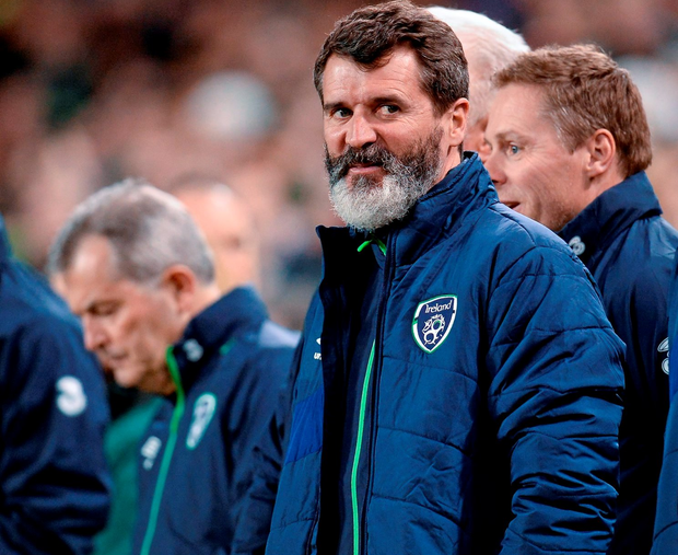 25 March 2016; Republic of Ireland assistant manager Roy Keane before the start of the match. 3 International Friendly, Republic of Ireland v Switzerland. Aviva Stadium, Lansdowne Road, Dublin. Picture credit: Seb Daly / SPORTSFILE