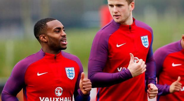 Tottenham's Danny Rose and Eric Dier during training for England. Photo: Carl Recine/Action Images via Reuters