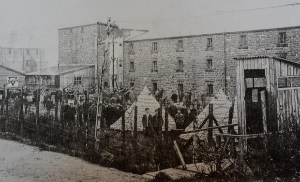 The Frongoch internment camp in North Wales in 1916