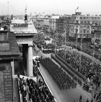 The commemorations outside the GPO in 1966. Photo: Independent Ireland Newspapers/NLI Collection