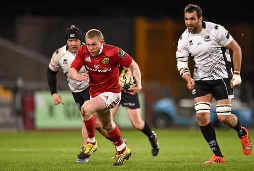 Keith Earls makes a break through the Zebre defence (SPORTSFILE)