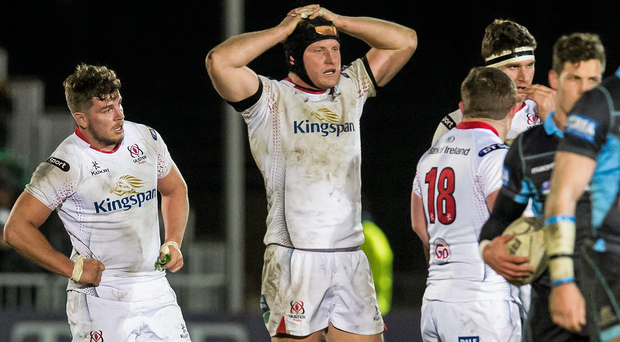 Ulster players look dejected at the end of the game (SPORTSFILE)
