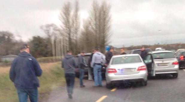 A picture showing aftermath of garda raid in Meath